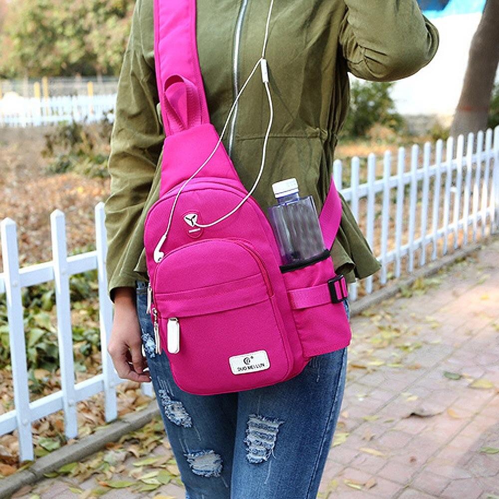 Waterproof Nylon Unisex Chest Pack Single Shoulder Strap Back Bag Crossbody Bags for Women Sling Shoulder Bag Travel bags