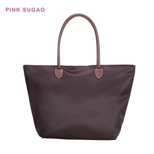 Pink Sugao women purse luxury handbags women bags designer nylon purses and handbags shoulder bag shopping bag folding beach bag