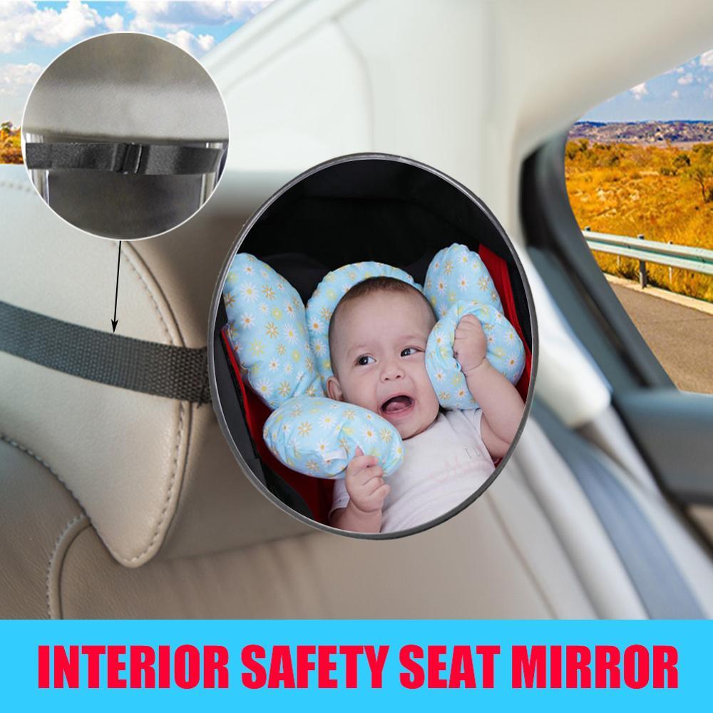 Espejo de seguridad para coche para asiento trasero de bebé, Vista frontal ajustable, retrovisor trasero duradero para bebé, espejo de seguridad para asiento trasero, Monitor para niños