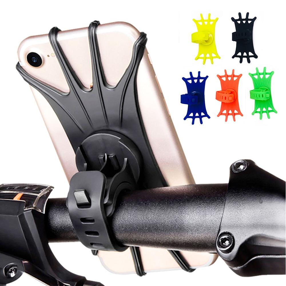 Soporte Universal de silicona para teléfono móvil, bicicleta, motocicleta, teléfono móvil, soporte de Clip para manillar para Samsung