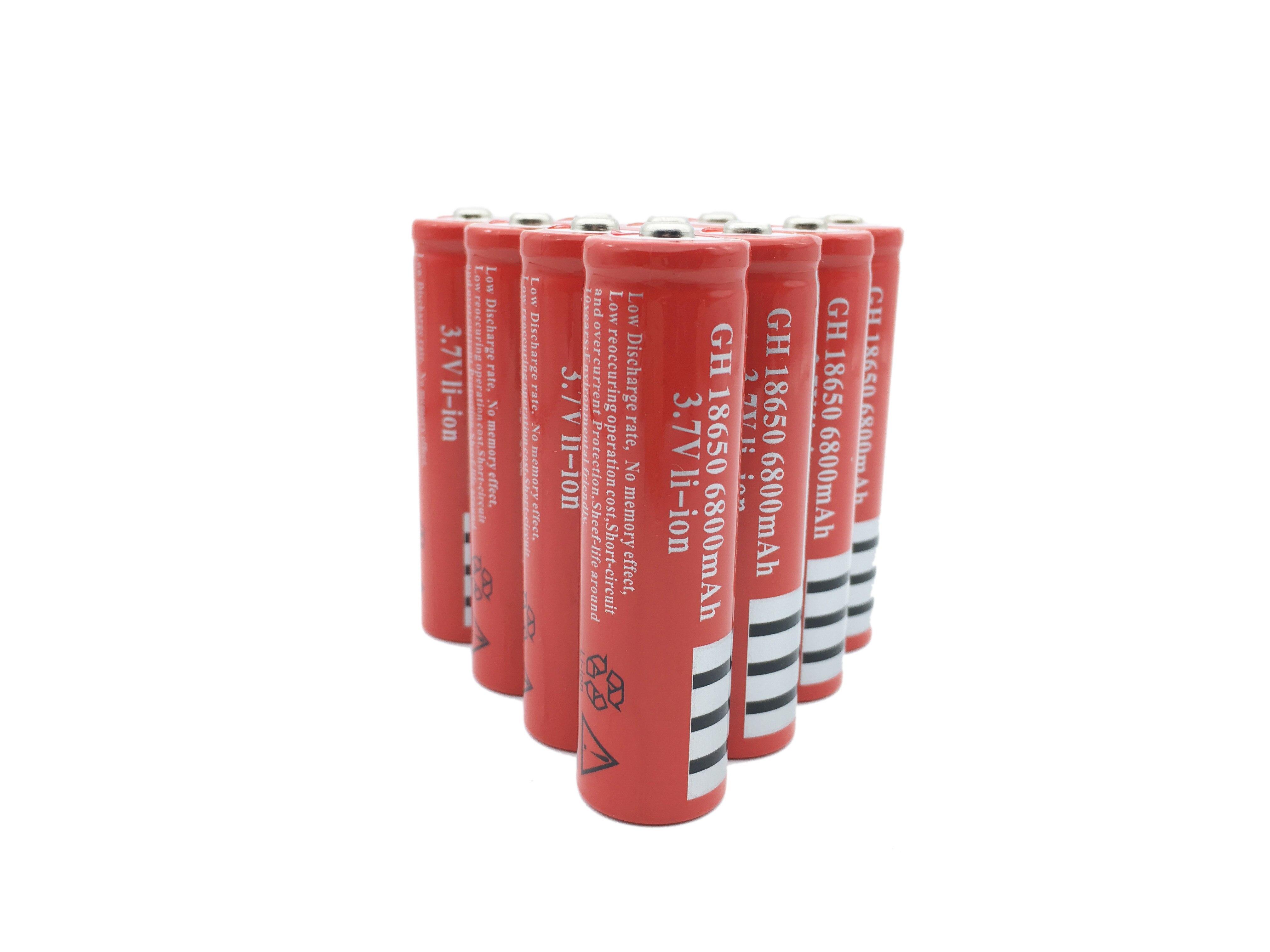 Skotery 10 pçs muito frete grátis 18650 6800 mah bateria 3.7 v bateria recarregável para lanterna elétrica