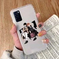 anime bungou stray dogs phone case transparent for oppo a 3 5 33 7 8 52 9 11 32 53s f 9 11 realme x t 7 50 7 pro