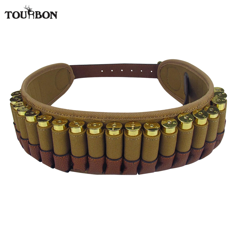 Tourbon correa de cartucho de munición de escopeta táctica sostiene 25 cartuchos de calibre 20 ajustable Bandoleer para accesorios de arma de caza de disparo