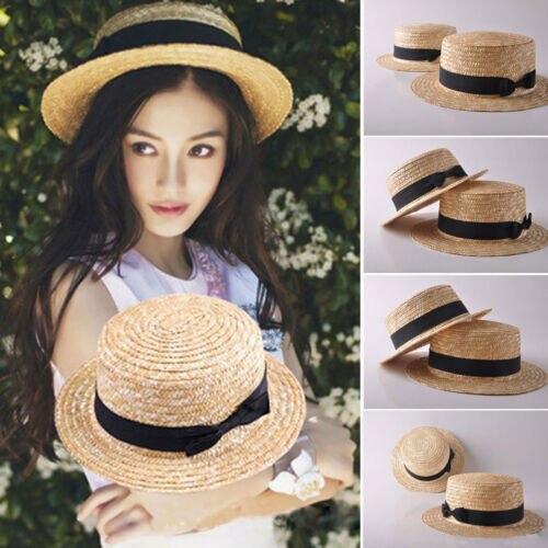 Senhora mãe criança correspondência colorido feminino artesanal palha chapéu praia verão sol 1 peice