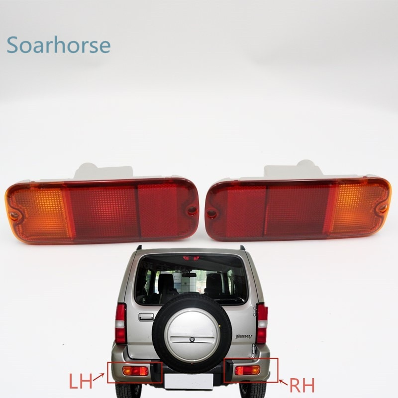 Car rear bumper fog lamp Tail Brake Reflector Light without bulb For Suzuki Jimny 2007 2008 2009 2010 2011 2012 2013 2014 2015 +
