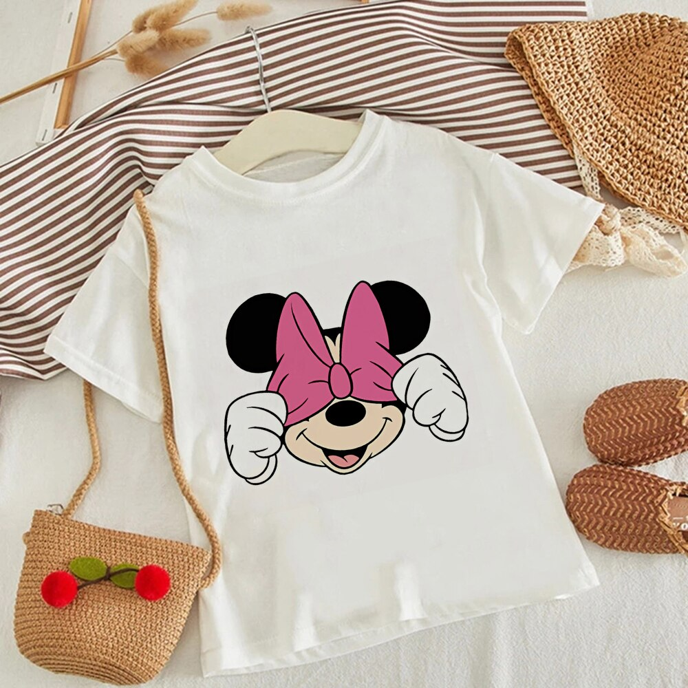 Camiseta de Disney para niños, Camiseta con estampado de ratón de Minnie,...