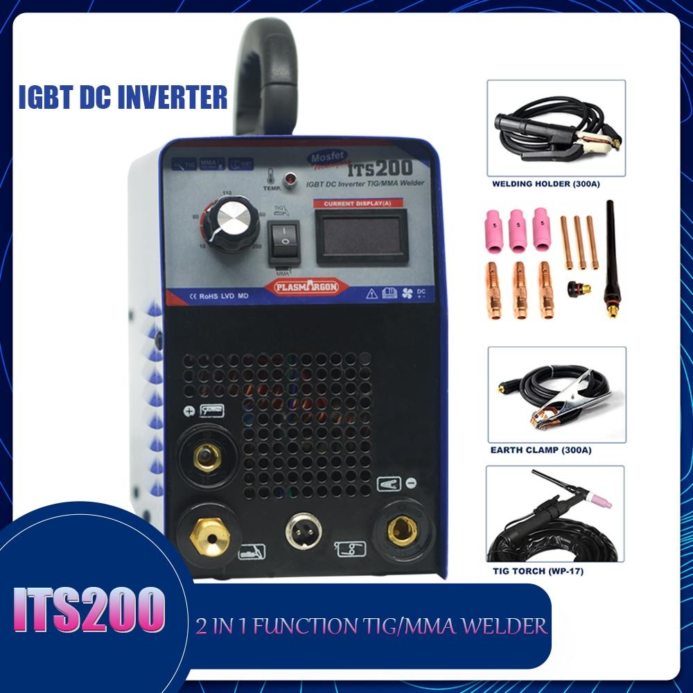 ماكينة لحام بغاز التنجستين الخامل 2 1 Tig/MMA لحام IGBT تيار مستمر العاكس شبه التلقائي لحام 220 فولت
