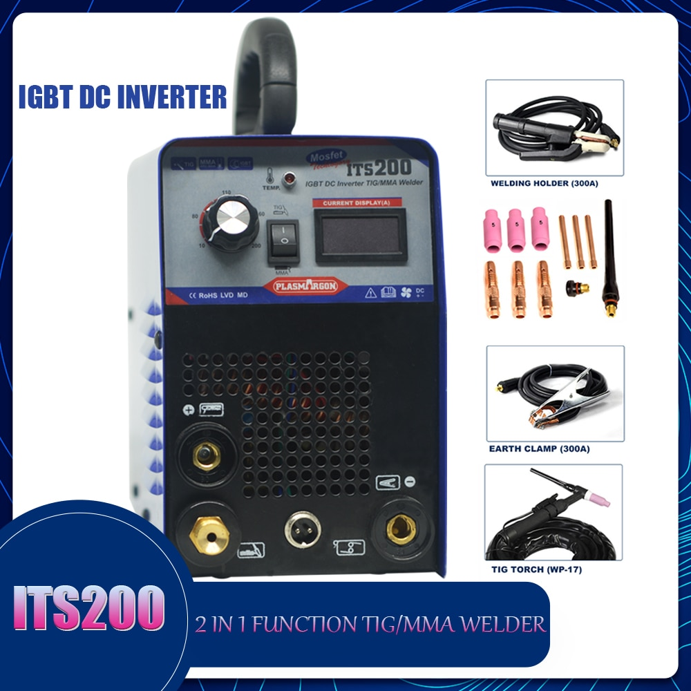 Tig Welding machine 2 1 TIG/MMA Welder IGBT DC Inverter Semi-automatic Welding 220V