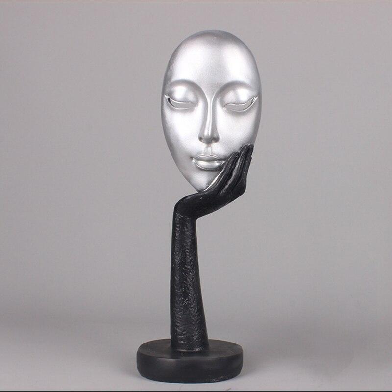 Sala de Estar Decoração para Casa Multicolorido Pensador Escultura Decoração Estatuetas Resina Estátua Artesanato Acessórios Fotografia Adereços