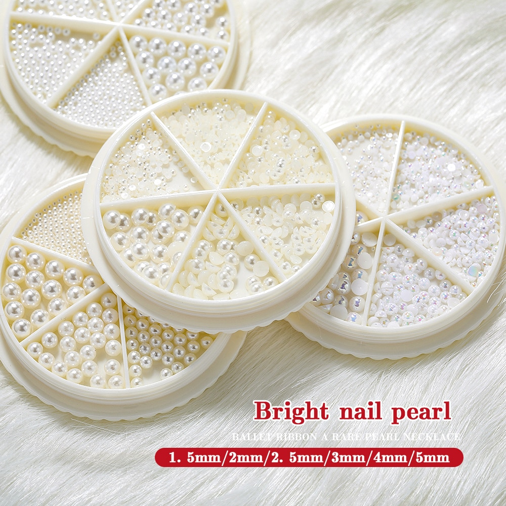 3D New nail decoration, three-dimensional half pearl, pearl,, decoration DIY beauty and nail product