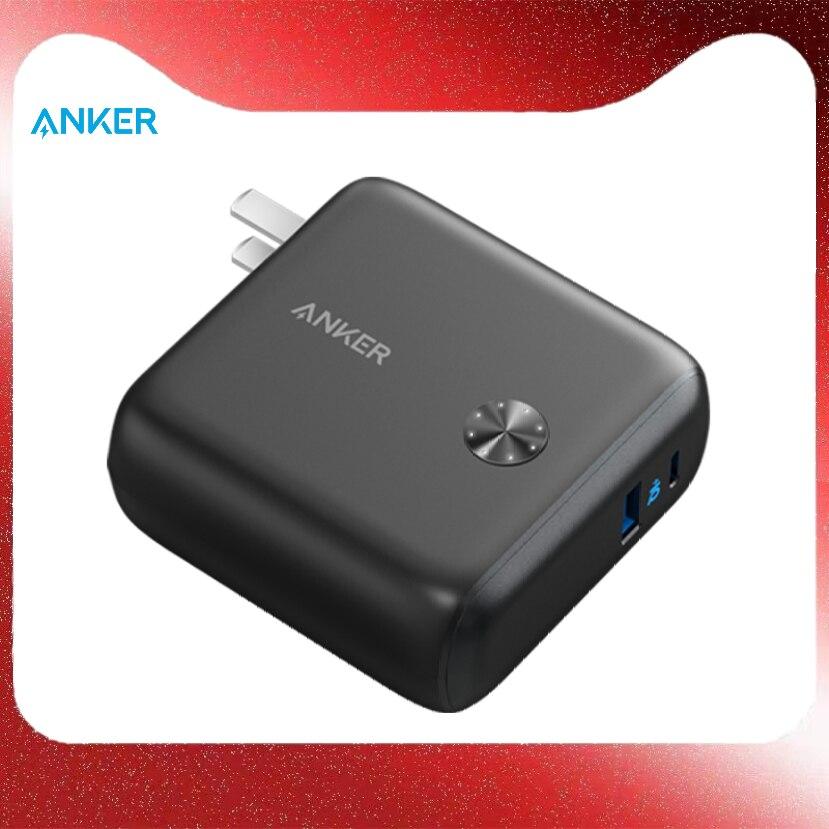 Anker 2-in-1 سوبر شاحن 20 واط 9700 مللي أمبير USB-C USB-A تسليم الطاقة 20 واط PowerIQ 3.0 A1623 ، A1624 آيفون باد شاومي