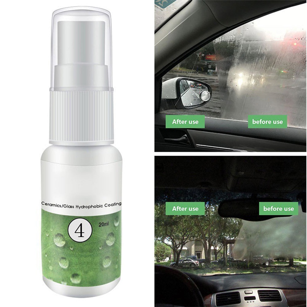 Ceramic Glass Nano-hydrophobic Coating Anti-rain Agent Windshield Rainproof Spray Car Paint Cleaner Polishing Spot Rust