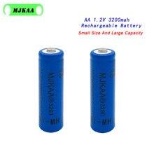 12 teile/los AA Ni-Mh 3200mAh Batterie 2A Batterien 1,2 V AA Akku NI-MH batterie für fernbedienung Spielzeug led-leuchten