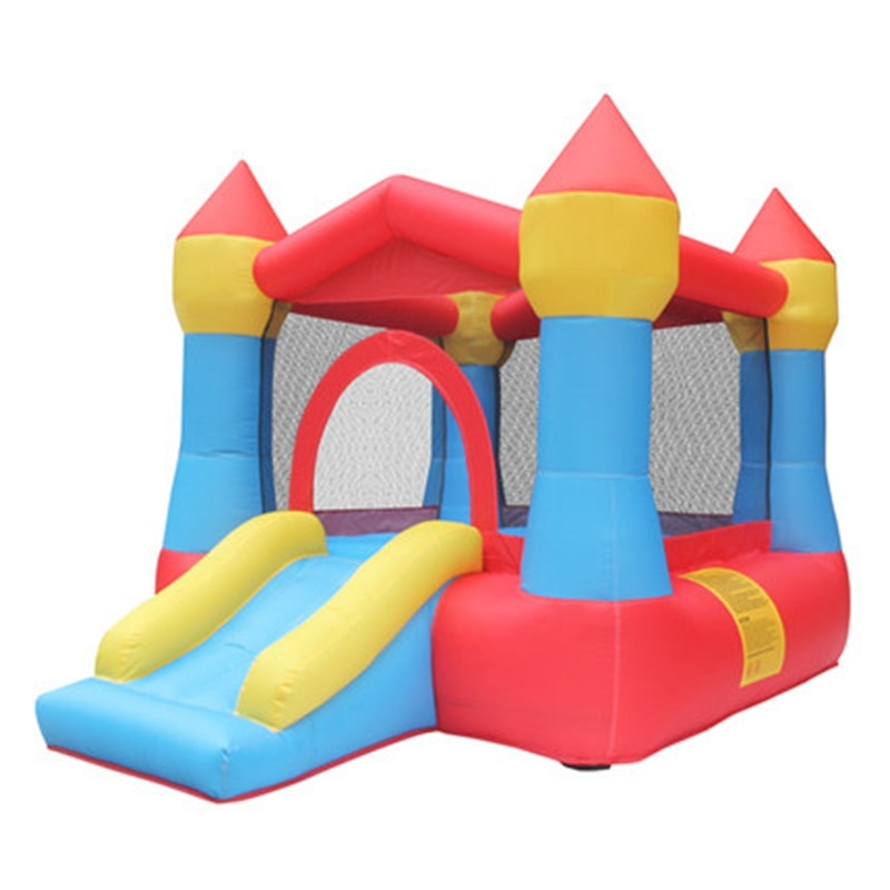 3-5 Kids Inflatable Jumping Castles Child Play Mini Family Bouncer with Air Blower Blow UP Bouncy Castle