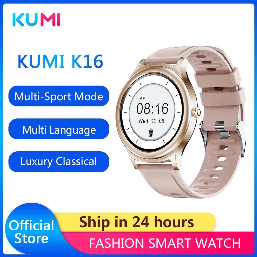 KUMI K16 Fashion Smartwatch Ladies Wristwatches 2021 Luxury Classical and Elegant Wrist Watches relo
