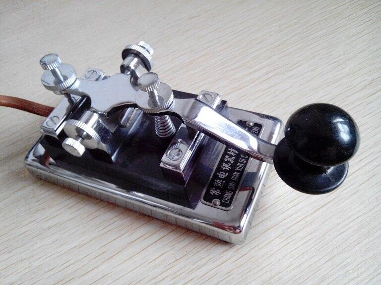 برقية مورس كود 1973 الثمينة تشانغشو K4 الألومنيوم القياسية راديو معبد تيانجين مفتاح كهربائي مفتاح اليد