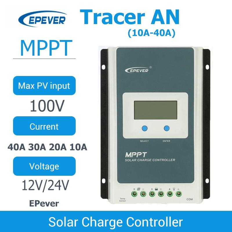 EPever MPPT الشمسية جهاز التحكم في الشحن 40A 30A 20A 10A التتبع سلسلة الظهر ضوء LCD منظم لبطارية ليثيوم أيون الرصاص الحمضية