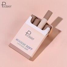Pudaier matte batom conjunto de maquiagem pequena fumaça tubo cigarro batom matte batom hidratar macio não seco maquilagem