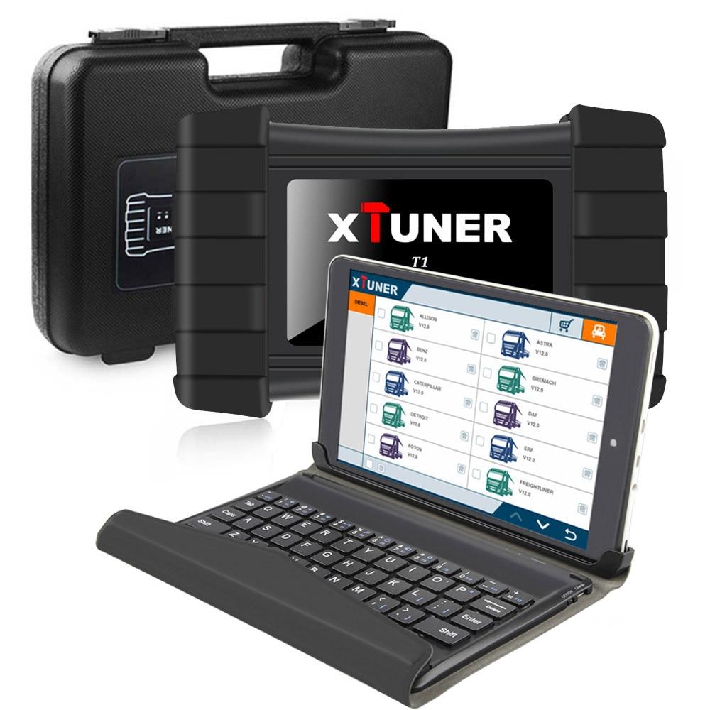 XTUNER T1 диагностический инструмент для тяжелых грузовиков с воздушной сумкой DPF ABS OBD2 сканер для грузовиков + 8 дюймов Winows10 планшет Автосканер