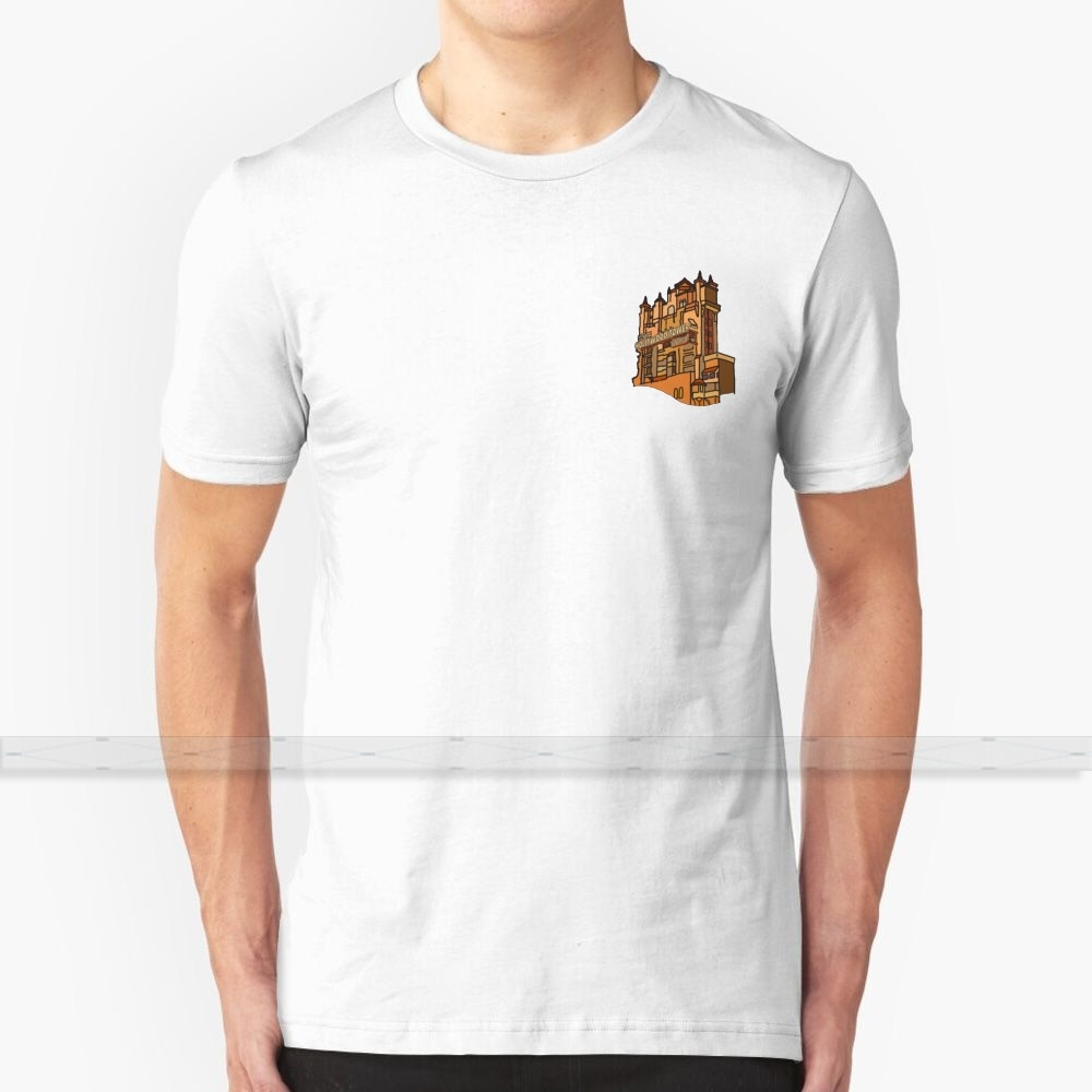 Camiseta de algodón con diseño personalizado de Hotel y torre de Hollywood para hombre y mujer, nueva camiseta Guay, 6xl talla grande, torre de hollywood, hotel y terror