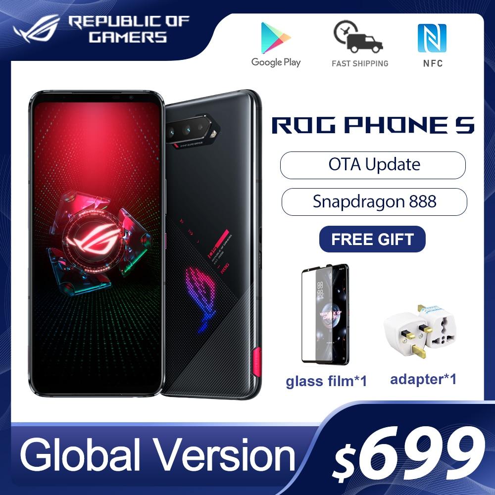 ASUS ROG телефон с 5-дюймовым дисплеем, процессором Snapdragon 2021, ОЗУ 8/12/16 ГБ, 256 мАч, 65 Вт