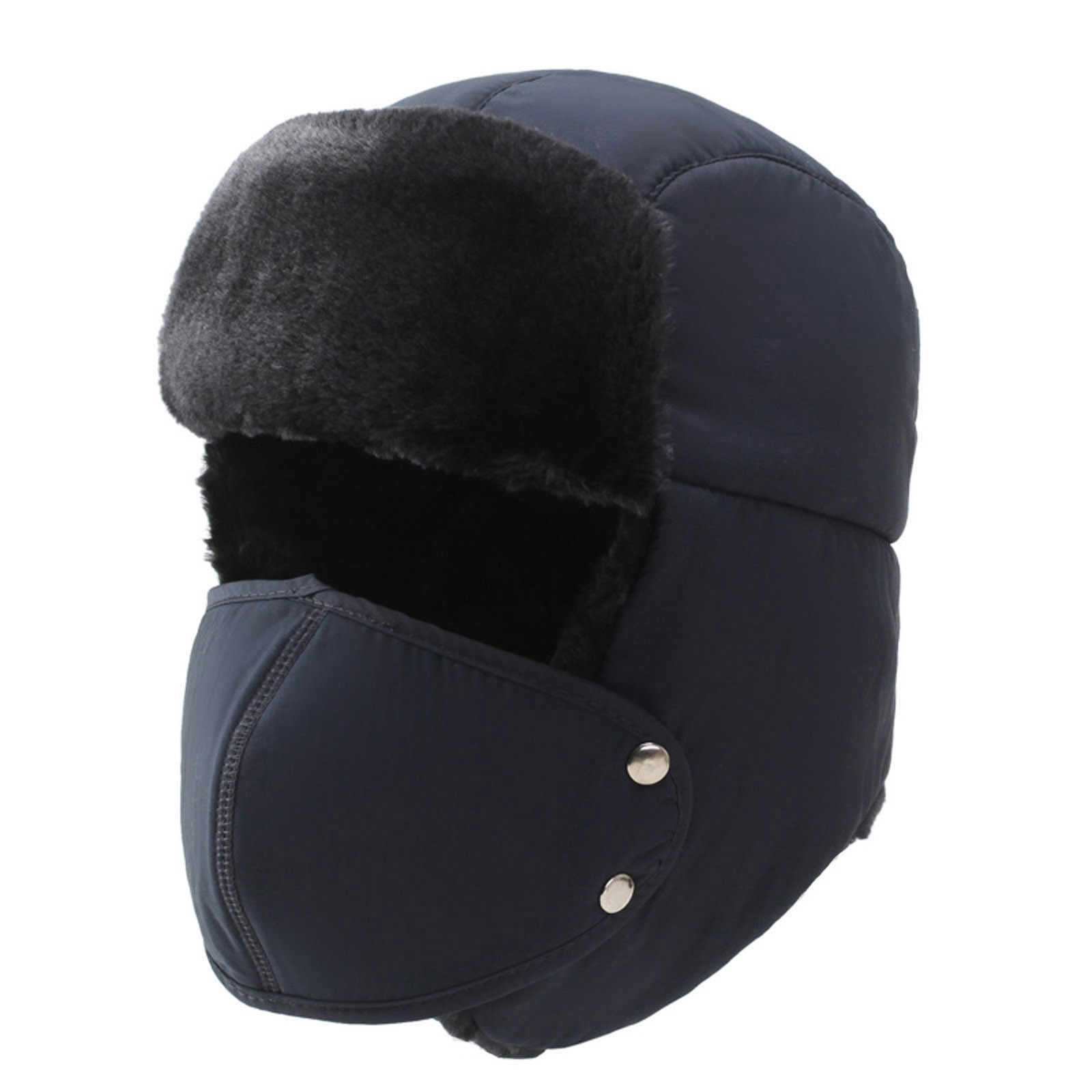 Drop Ship Winter Thickened Thermal Plush Detachable Mask Hats Cycling Windproof Cold Face Cover Prot