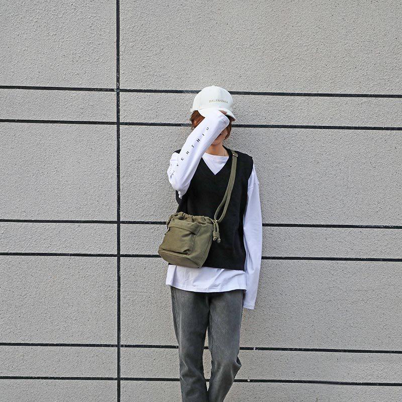 HWF10 حقيبة صغيرة تصميم قماش حقيبة كتف النسخة الكورية من عبر الجسم دلو حقيبة نوع جديد من حقيبة ملابس