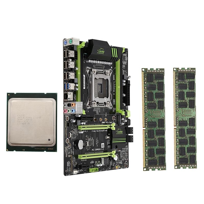 X79 LGA2011 placa base Combo con E5-2689 CPU 2X2 GB 8GB 16GB DDR3 RAM 1600Mhz REG ECC PCI-E NVME M.2 SSD ranura