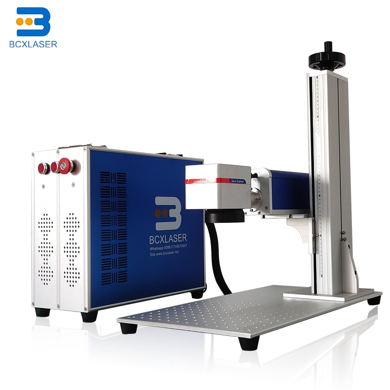 Portable mini laser marker 20W 30W 50W fiber laser marking machine QR code laser engraving machine Hot Sale