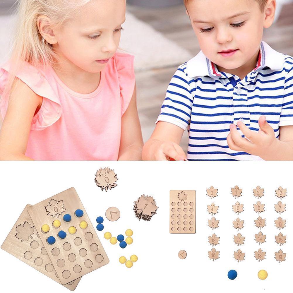 Доска с подсчетом Монтессори, цифровая обучающая доска для дошкольного обучения, деревянная доска с облаками, игрушка для детей, подарок