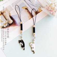 Cute Cat Girls Smart Phone Strap Lanyards for IPhone/Samsung/Xiaomi/Huawei Mobile Phone Strap Key Hang Rope Phone Charm Decor