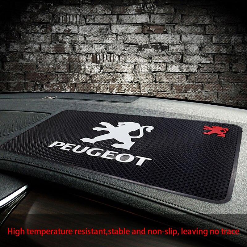 Автомобильный Противоскользящий коврик с логотипом PEUGEOT, автомобильный коврик для духов, автомобильный Противоскользящий коврик для хране...