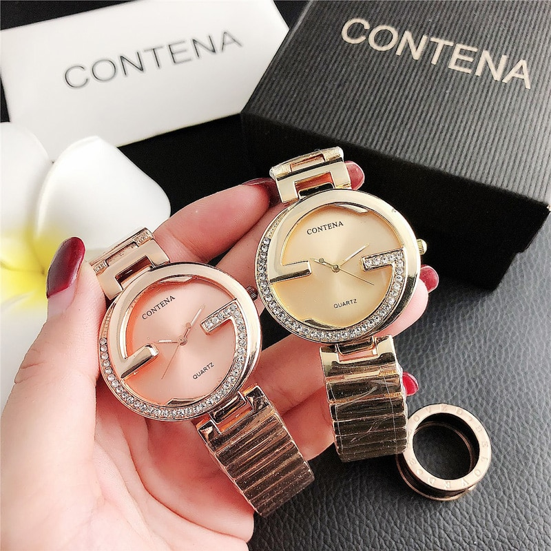 YUNAO 2021 Fashion Hot-Selling Watch Ladies Quartz Watch Hot-Selling Net Red Watch Stainless Steel Casual Noble Watch Clock