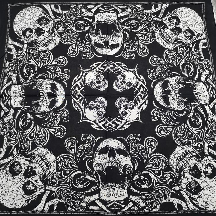 Cotton Pirates Skull Leaves Reggae Bandanas Men Hiphop Headscarf Women Neckerchief Headwear Handkerchief Neck Wrist Wrap Band