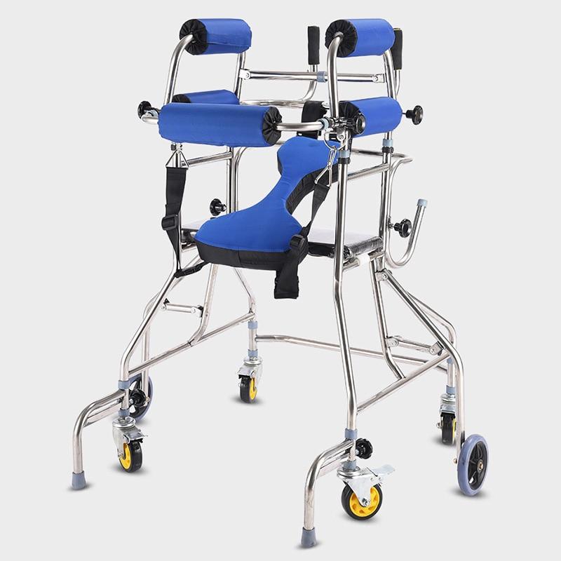MHKBD 6 عجلات جهاز للمساعدة على المشي المسنين ووكر المسنين عصا للمشي المشي تأهيل جهاز مكافحة الخلف التمديد الرف