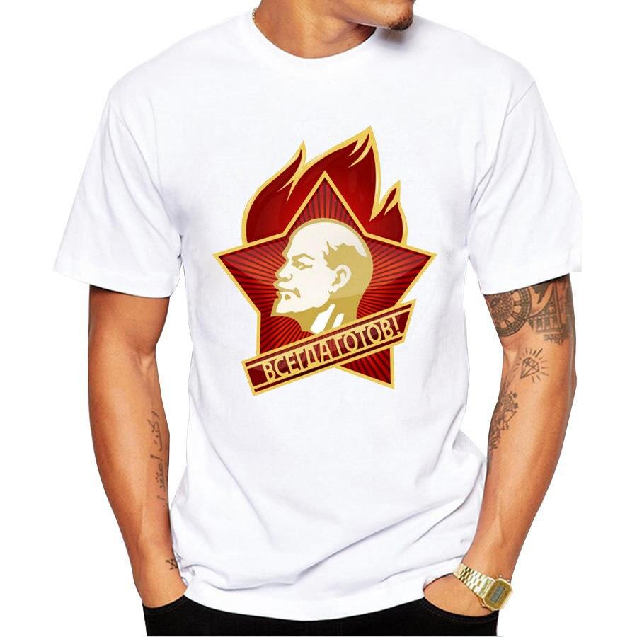 Camisa de manga curta de lenin cccp urss camisa de lycra masculina t camisa nova diy estilo streetwear