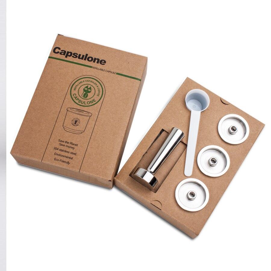 Capsulone إعادة الملء القهوة كبسولة قرنة resuable كأس فلتر صالح ل إيلي القهوة آلة معدنية الفولاذ المقاوم للصدأ القهوة كبسولة