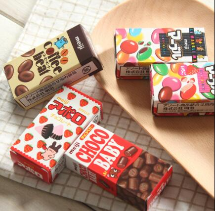 April Du 5pcs Japanese Baby Kids snack meji chocolate 2021 best Christmas gift 52g/pcs