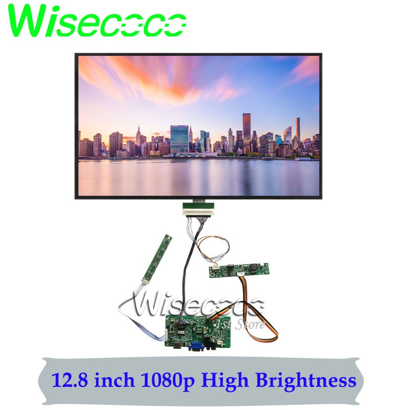 Sunlight Readable Display High Brightness LCD 12.8 Inch 1920x1080 IPS Panel 60Hz 1000 nits Outdoor Industrial Screen Wide Temper
