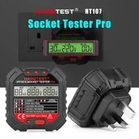 professional digital socket tester pro ht107e electric outlet tester voltage detector uk plug rcd test ground zero line check