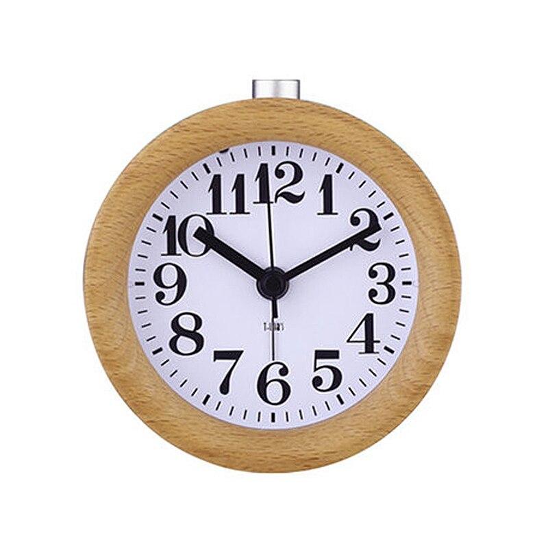 Reloj Despertador de madera para niños, Despertador Circular de escritorio con aguja y retroiluminación, gran oferta