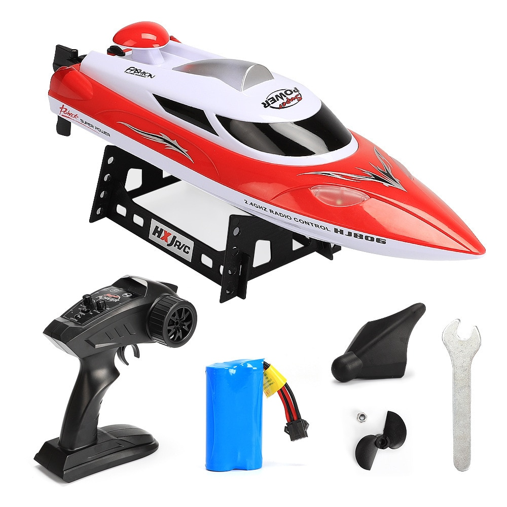 RC Boat Toys 2.4G Waterproof Remote Control Boat 35Km/h High Speed Racing Ship LED Light RC Speedboa