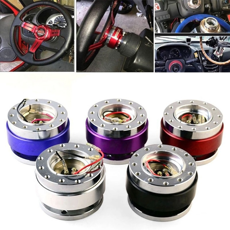 Universal 6 Hole Steering Wheel Snap off Hub Adapter Quick Release Device Kit 6XDB