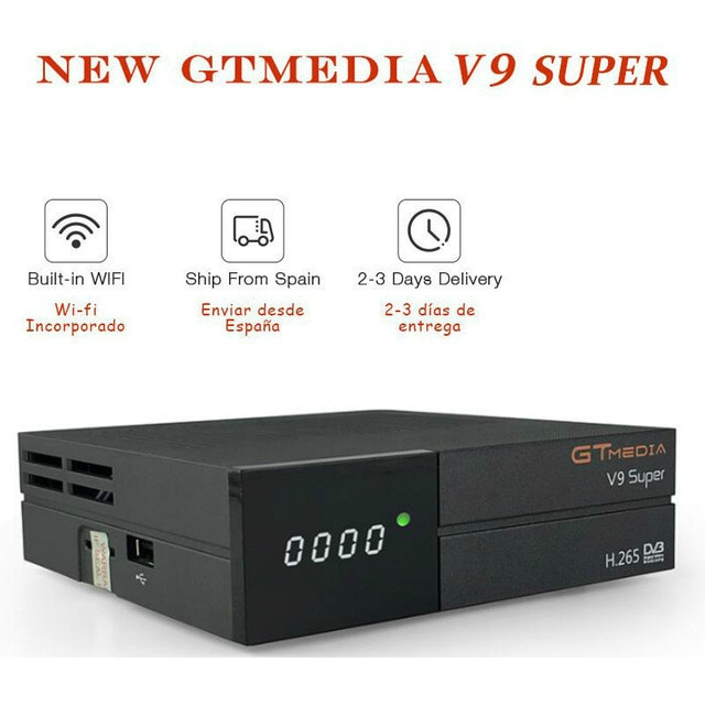 Gtmedia V9 Super HD dvb-s2 H.265 receptor digital de satélite envía para España Alemania Polonia descodificador de televisión por satélite