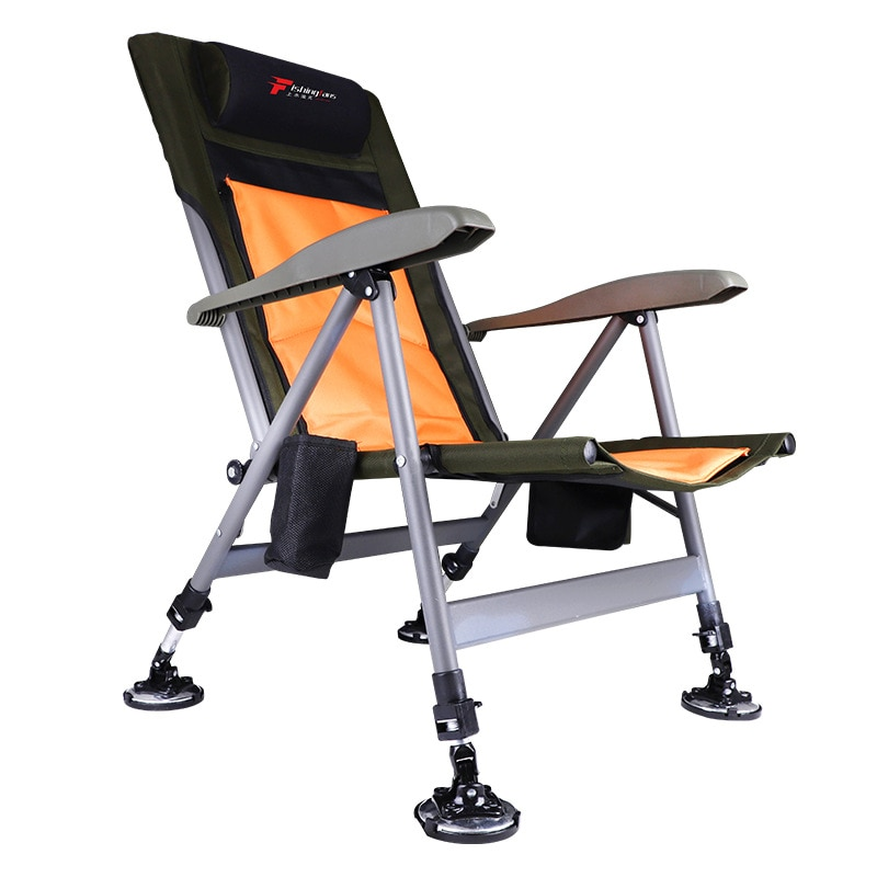 European style fishing chair thick aluminum alloy fishing chair all terrain folding chair stool fishing chair leisure chair enlarge