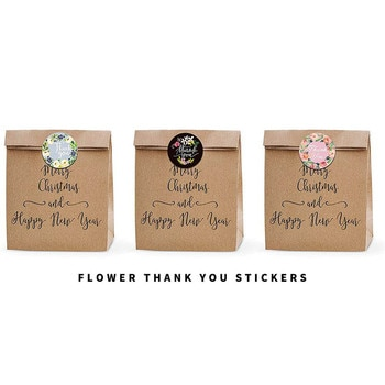 500Pcs/Roll Thank You Flower Stickers Self Adhesive Handmade Labels Wedding Favors Gift Party Decoration 2