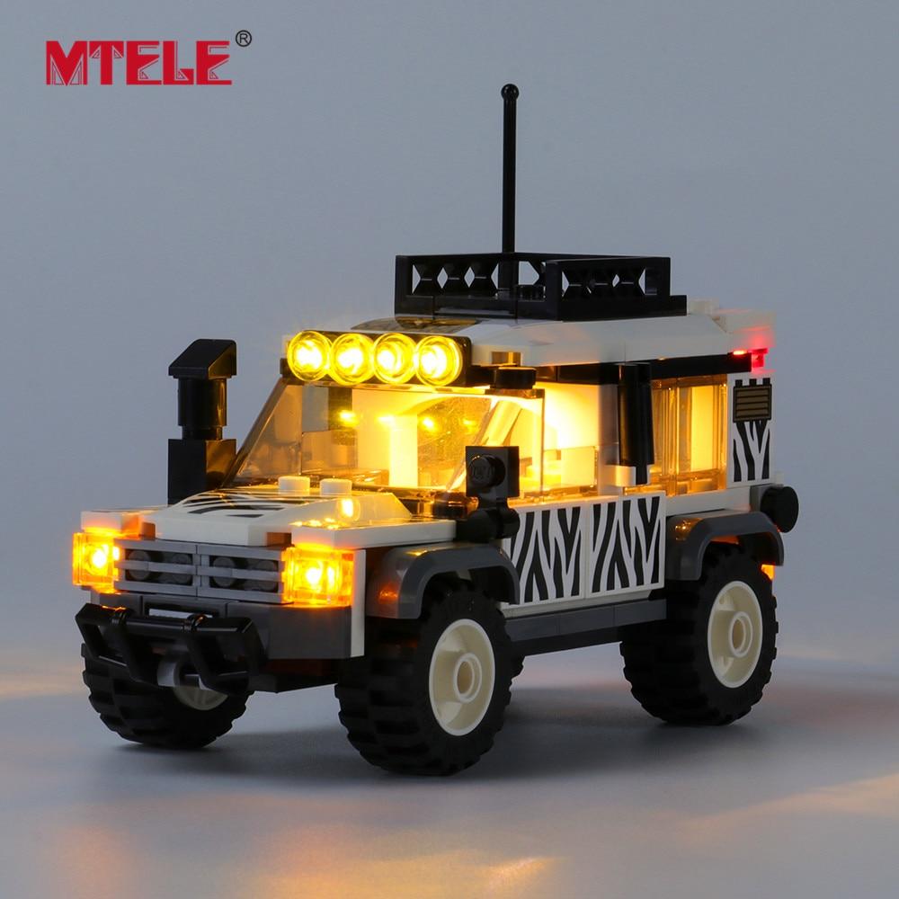 Набор светодиодсветильник п MTELE для 60267 CITY Series Safari Off-Roader Toys