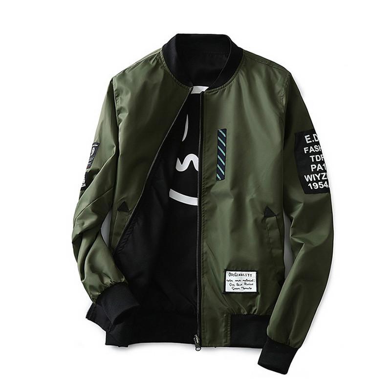 2020 chaqueta de piloto para hombre con parches verde ambos lados usan chaquetas de piloto para hombre chaqueta cortavientos fina para hombre chaqueta de hombre Xt441