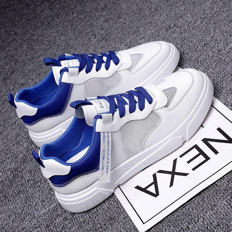أحذية رجالي 2021 جديد الصيف شبكة أحذية رجالية تنفس العصرية كل مباراة حذاء أبيض غير رسمي طالب أحذية رسمية أحذية باردة