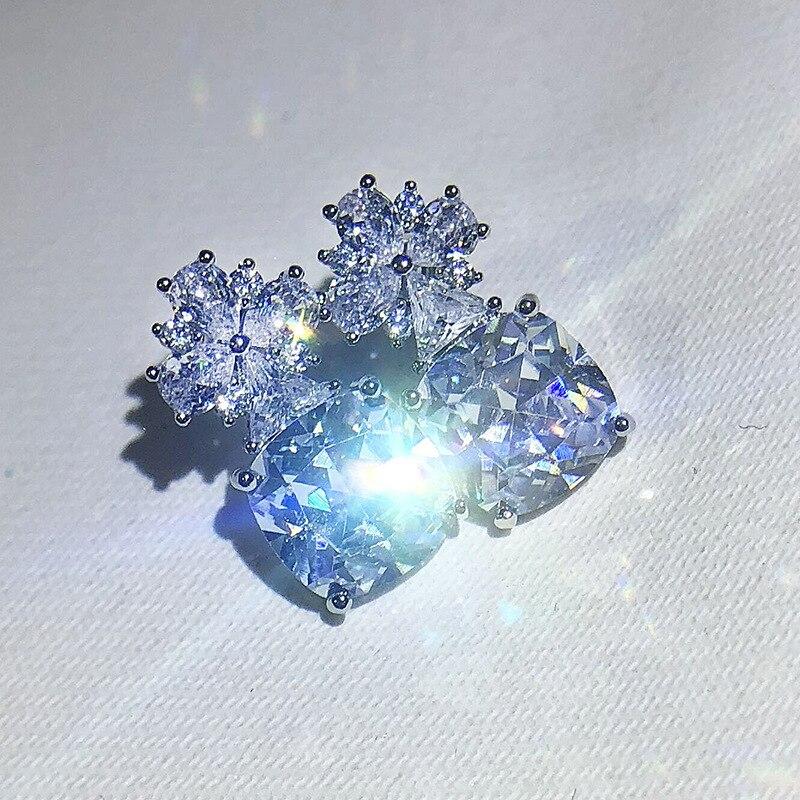 Бриллиантов ювелирные изделия S925 стерлингового серебра серьги для женщин, хорошее ювелирное изделие, обручальные кольца серебряные серьги...